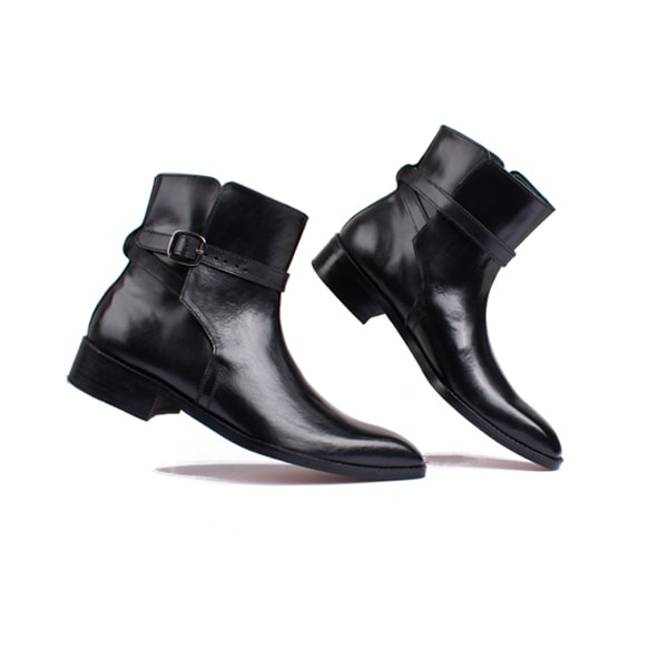 Classic Black Leather Boots   Italian Boots