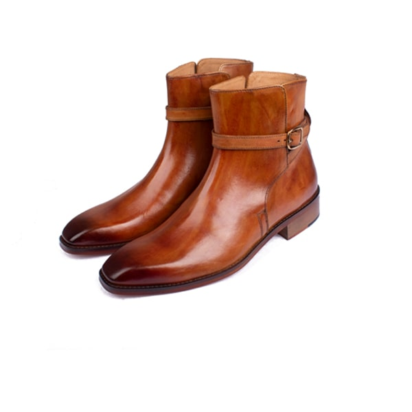 Classic Light Brown Leather Boots | Italian shoes leather