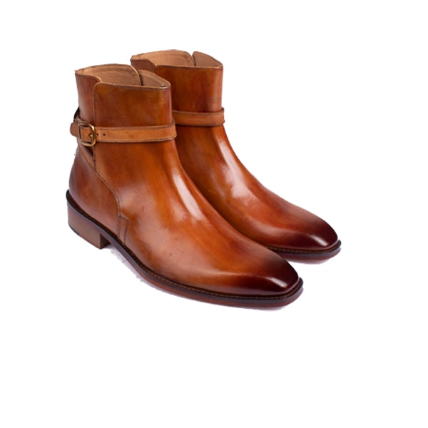Classic Light Brown Italian Leather Boots | mens designer shoes