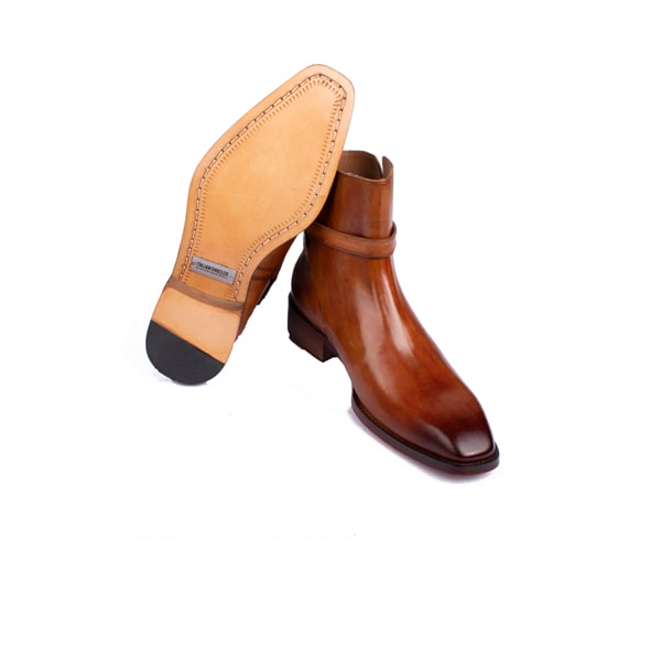 Classic Light Brown Leather Boots | Italian mens shoes