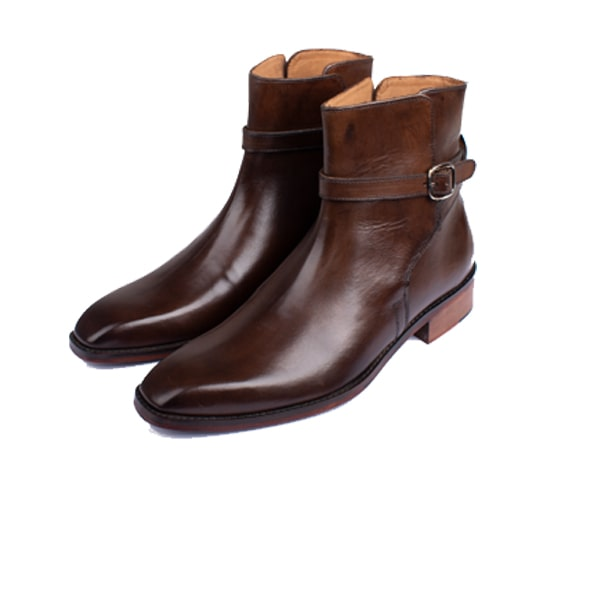 Classic Brown Leather Men Boots | italian brand shoes