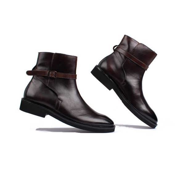 Classic Dark Brown Italian Leather Boots | Italian leather shoes