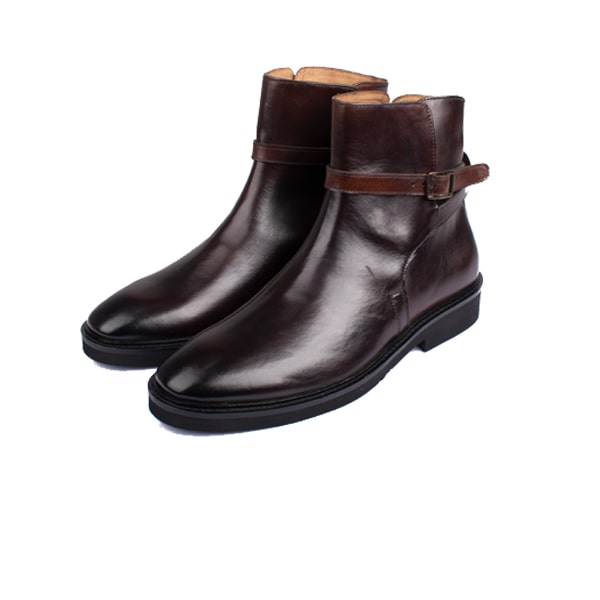 Classic Dark Brown Italian Leather Boots | expensive mens shoes