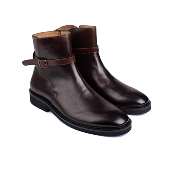 Classic Dark Brown Leather Boots | Italian leather shoes