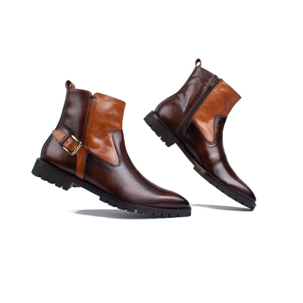 Classic High Ankle Boots In Dark Brown | Italian handmade shoes