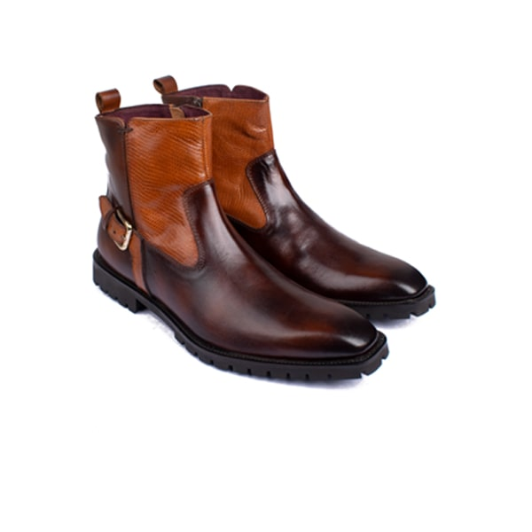 Classic High Ankle Boots Dark Brown shoes | luxury shoes for men