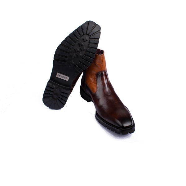 Classic High Ankle Boots In Dark Brown | luxury shoes for men