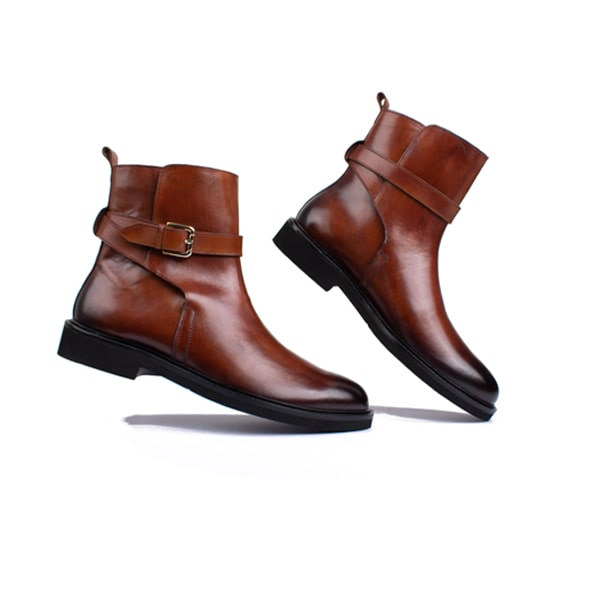 Classic High Ankle Boots Brown Shoes | Italian leather shoes