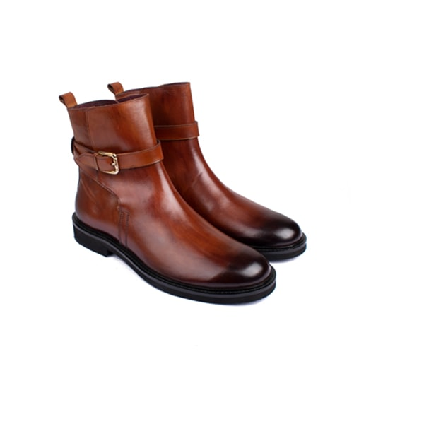 Classic High Ankle Boots In Brown Shoes | Italian leather shoes