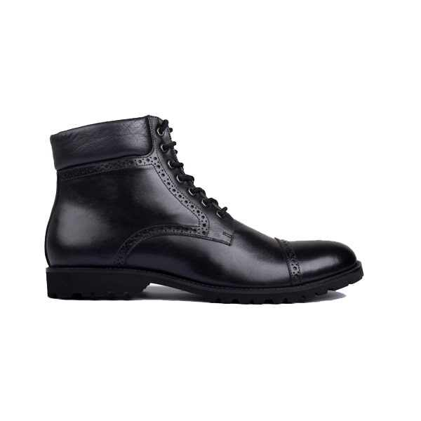 Captoe Ankle Boots - Black In Colour