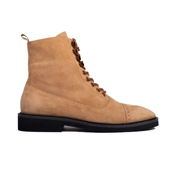 Captoe Suede High Top Ankle Boots