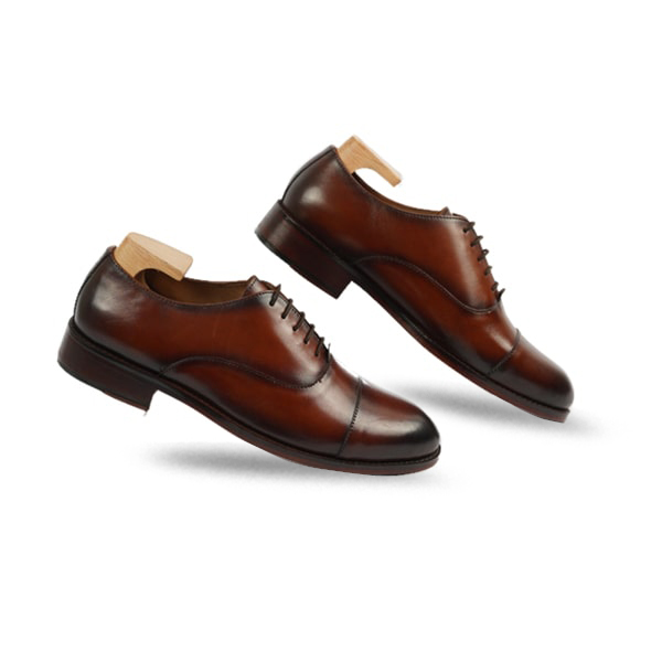 Brown Leather Hand Crafted Lace up Shoes