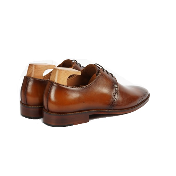 Derby blucher shoes in brown   Italian brand shoes