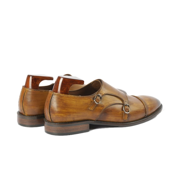 Double Buckle Monk Strap Shade Brown | Italian men shoes