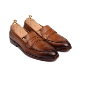 Penny Loafer In brown Leather