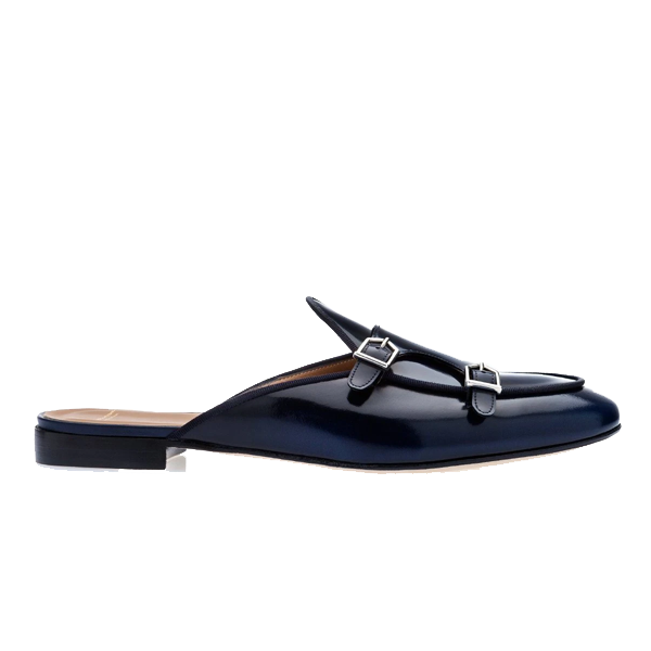 Classic Leather Double Monk Strap Mules 541