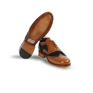 Hand Crafted Shoes with Two Tone Leather