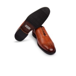Brown Leather with Hand Polished Dress up Shoes