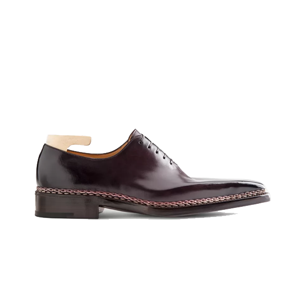 Oxford Purple Leather Shoes Online India 580