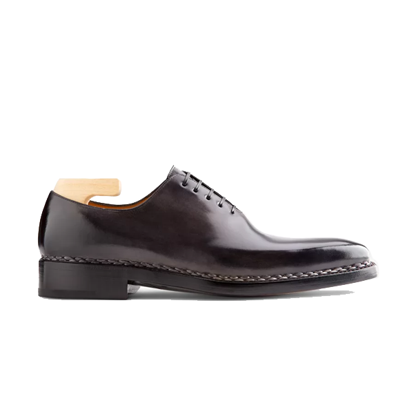 Oxford Shade Grey Leather Shoes India 582