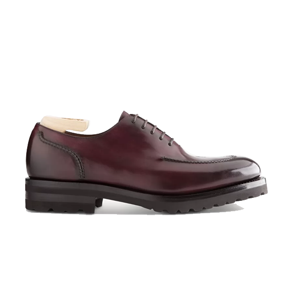 Oxford Burgundy Leather Shoes For Men Online 587