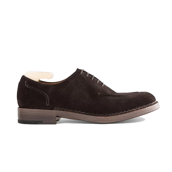 Oxford Dark Brown Suede Leather Shoes 588
