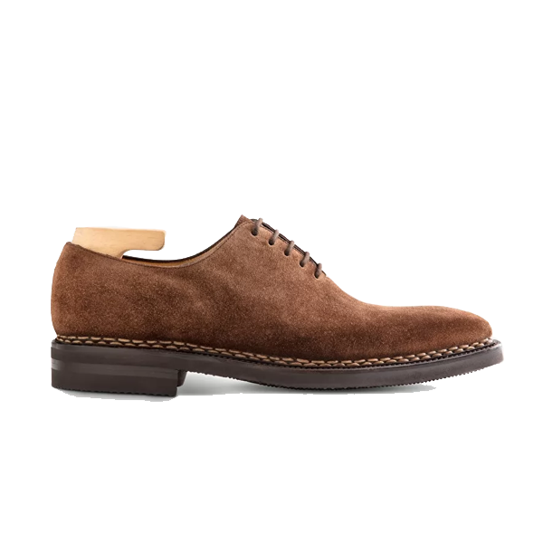Oxford Brown Suede Leather Shoes 589
