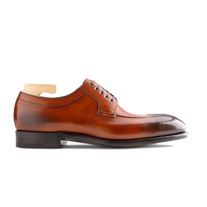 Derby Blucher Brown Leather Luxury Shoes India 598