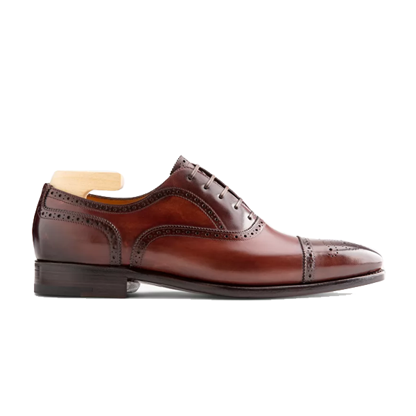 Oxford Classic Leather Dark Brown Shoes 557
