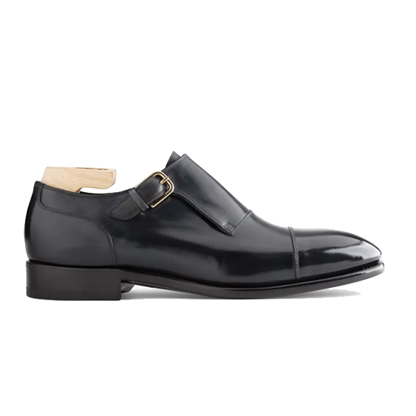 Single Monk Strap Pure Italian Leather Shoes 615