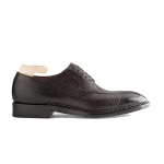 Derby Genuine Black Leather Shoes Online India 601