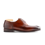 Derby Blucher Brown Pure Leather Shoes India 603