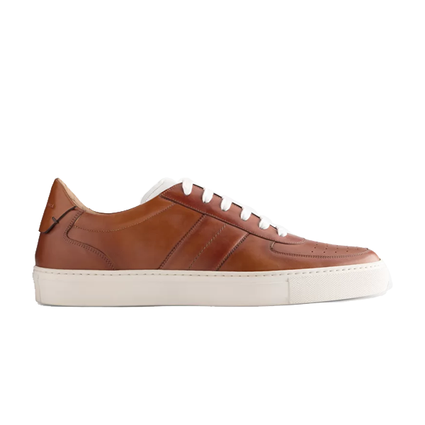 Low Top Brown Leather Sneaker 670