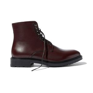 Derby High Ankle Burgundy Coloured Leather Boots 691